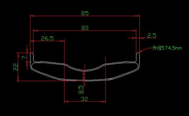 fat bike carbon rim profile