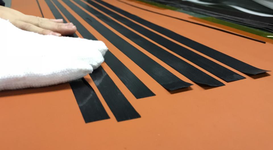 long strips carbon fiber
