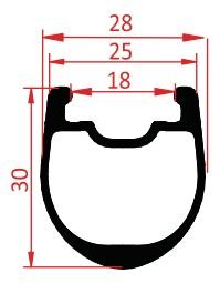 carbon clincher rim disc 30mm profile