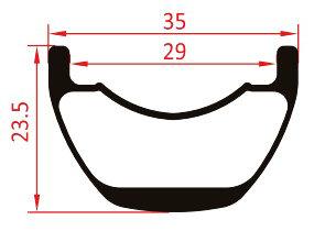 27.5er mtb rim enduro profile