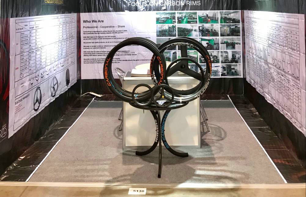 2018 interbike show, carbonal bike carbon rims