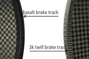 carbon disc wheel - 3k twill & basalt