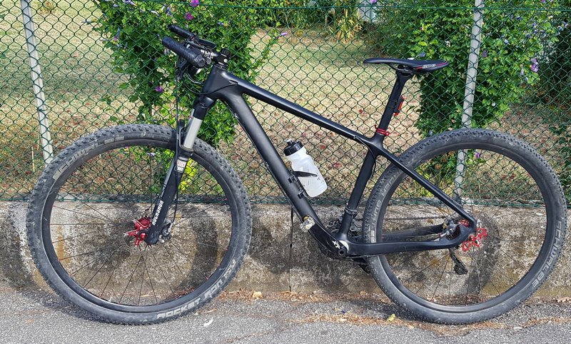 custom build bike with Carbonal frame & wheels etc